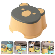 1Pc Kids Non-skid Stool Cartoon Small Stool Household Shoes Changing Stool