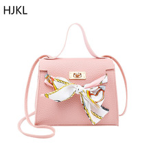 Bow Ribbon Shoulder Bags Women's Crossbody Handbag Mini Fashion High Quality PU Leather Luxury Lock Flap Design Female Bag 2019 bow decor flap pu bag