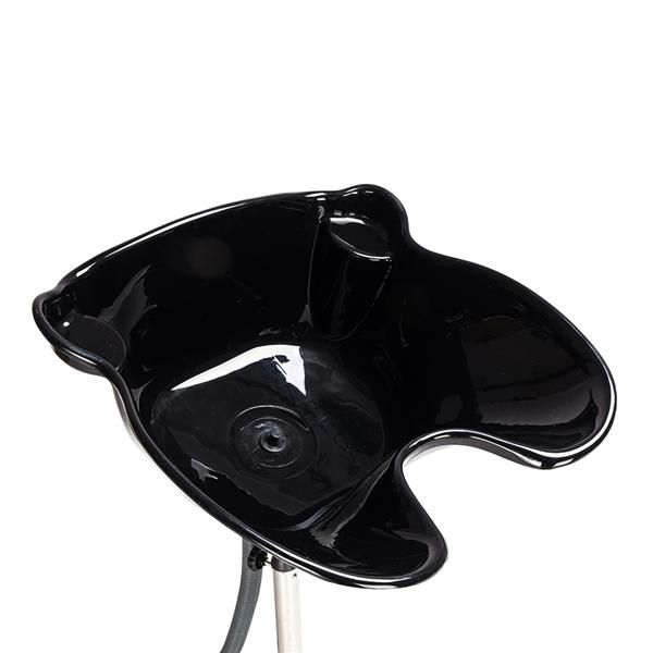 PP & Stainless Steel Support Bar YC-210 Salon Removable Adjustable Shampoo Basin for Salon Black
