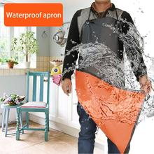Leather Cooking Baking Aprons Sleeveless Apron Waterproof Oil-Proof Kitchen Apron Restaurant Aprons for Adult Home Men