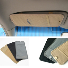 Multifunctional Car Sun Visor CD Organizer Glass Pen Stowing Case Styling Storage Holder Clip Bag Interior Accessories