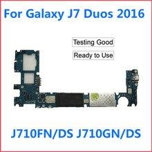 Unlocked Main Samsung Galaxy Original for J7 Ds-J710gn/ds J710F Logic-Board Duos