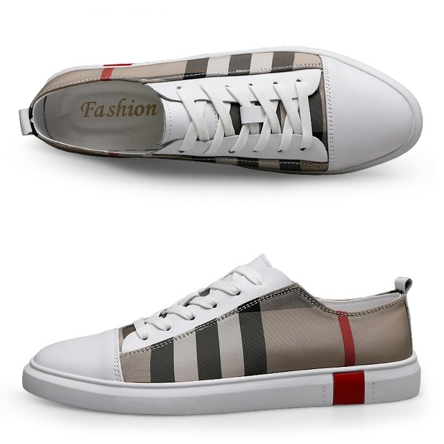 MR CO-zapatos de Skateboard transpirables para hombre, zapatillas deportivas de alta calidad, informales, de cuero genuino 5
