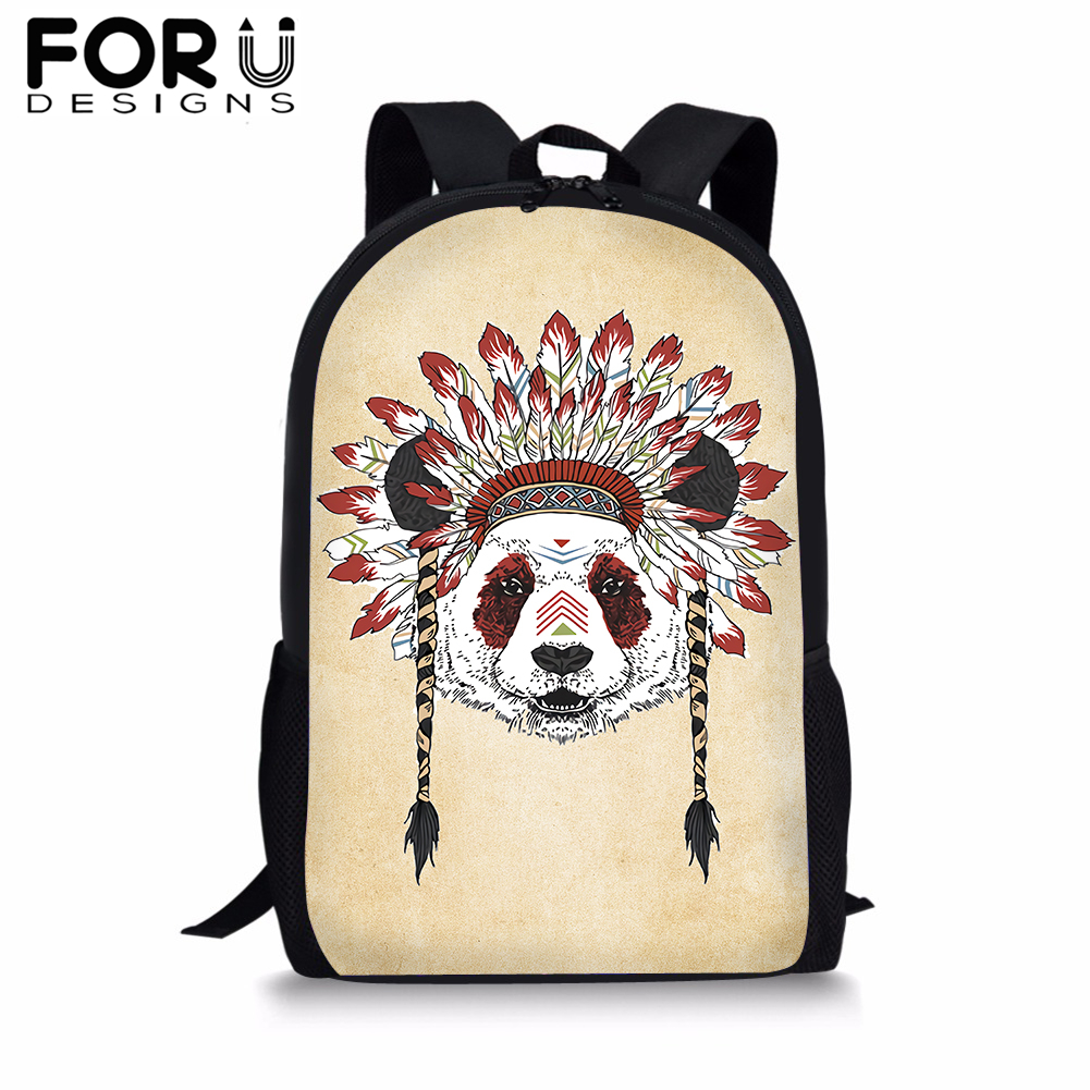FORUDESIGNS Cool Indian Ethnic Style 3D Print School Bag For Girls Female Backpack Women Student Satchel Kids Book Bag New in School Bags from Luggage Bags