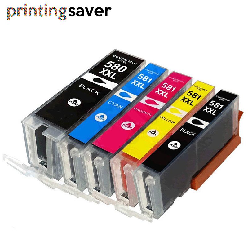 Compatible for <font><b>Canon</b></font> PIXMA TR7550 TR8550 TS6150 TS6151 TS8150 printer Suit For PGI-<font><b>580</b></font> CLI-581 PGI580 CLI581 Ink Cartridge image