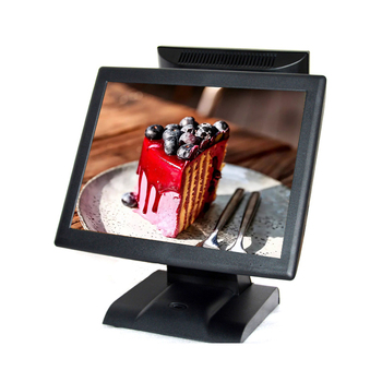15 inch Touch POS with 12 inch Second Monitor Dual Screen POS Terminal All in one POS for supermarket