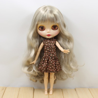 joint body Nude blyth Doll silver hair Factory doll sssiiill