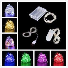 1m/2m/3m/5m/10m String Lichter Led USB Outdoor-Batterie betrieben Girlande Weihnachten Dekorationen für Haus Neue Jahr Ornamente Decor