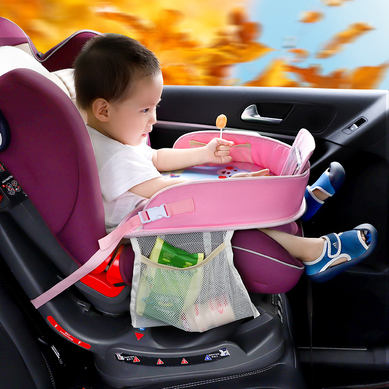 Universal  Baby Car Seat Tray Plates Table Cartoon Shelves Drink Holder Organizer Storage Tablet Cup Kid Child Auto Travel Desk