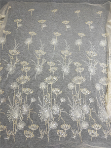 Image 3 - 1 Yard Luxury Gold bead dandelion sequin tulle embroidery lace fabric haute couture fabric lace DIY craft wedding 135cm wide