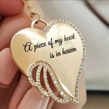 Una pieza de mi corazón está en el cielo collar de Ángel