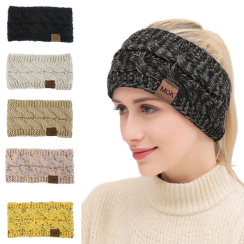 Winter Warmer Knitted Headband Women Fashion Crochet Turban Multicolor Wide Stretch Hairband Headwrap Hair Accessories - discount item  30% OFF Headwear