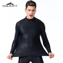 SBART Swimming Suit For Man Long Sleeve Swimsuit Rash Guard Quick Dry Diving Suit Snorkeling Swimming Surfing Rashguard Anti UV