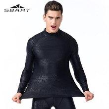 SBART لباس سباحة للرجل طويلة الأكمام ملابس السباحة طفح الحرس سريعة الجافة بدلة غطس الغوص السباحة تصفح Rashguard مكافحة الأشعة فوق البنفسجية