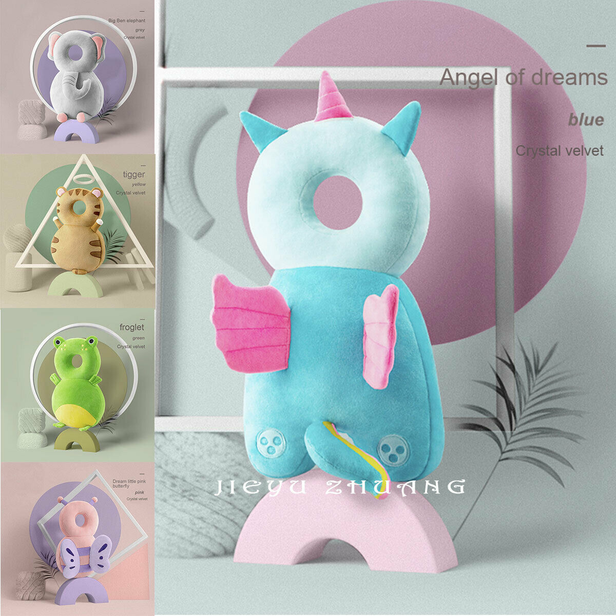 Newborn Toddler Baby Head Protector Safety Pad Cushion Back Prevent Injured Unicorn Bee Cartoon Security Pillows 1-3Y