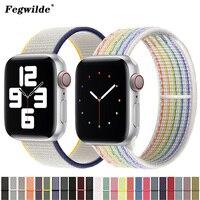 Nylon schleife Strap für apple watch band 44mm 40mm 42mm 38mm smartwatch armband gürtel armband correa iwatch band 6 se 5 4 3