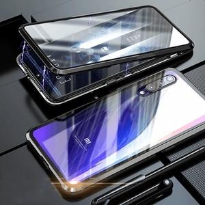 Image 5 - Funda magnética de Metal de lujo para Xiaomi, funda completa de cristal doble frontal y trasera para Xiaomi Mi 9t 9 Se Cc9 Cc9e Mi9 Pro Redmi K20 Note 8 7 Pro