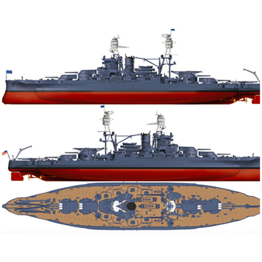 Unique DIY 1/700 Scale USS Arizona Class Battleship BB-39 Plastic Model Kit Gift USA Military Battleship 83401