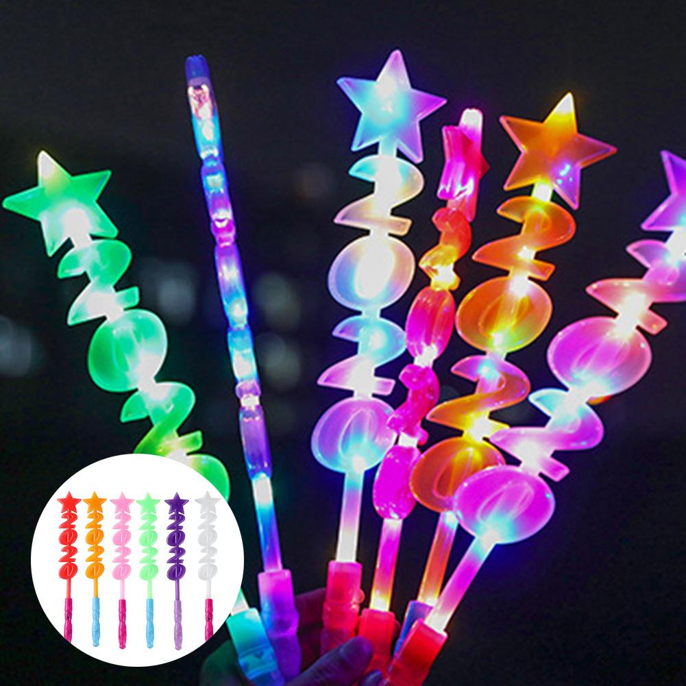 Star 2020 LED Flashing Glow Stick Fairy Maging Wand Kids Toy Concert Party Props