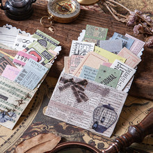 Journamm 400 unids/pack Vintage boleto Material creativo de combinación de decoración de colección de recortes diario de la escuela suministros