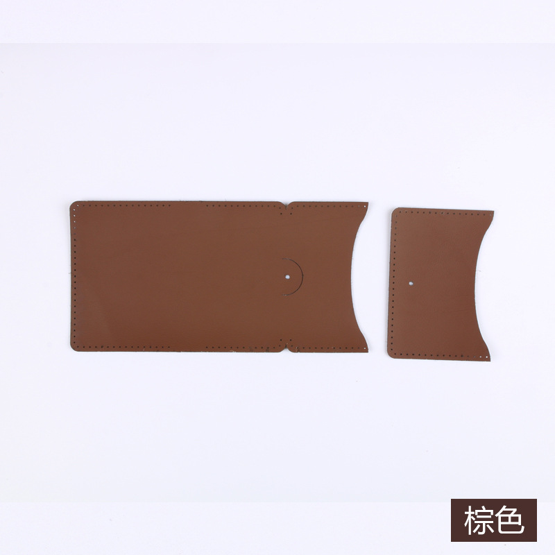 Purse Coin Bag Wallet DIY Semi-Finished League Building Activity Material Handmade Leather Goods Leather For Making Material Box