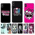 Роскошный прозрачный чехол FHNBLJ Monster High для телефона iPhone 11 pro XS MAX 8 7 6 6S Plus X 5 5S SE XR SE2020