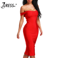 INDRESSME 2019 Off the Shoulder Backless Dress Black Red Sexy Club Sheath Bodycon Party Dresses