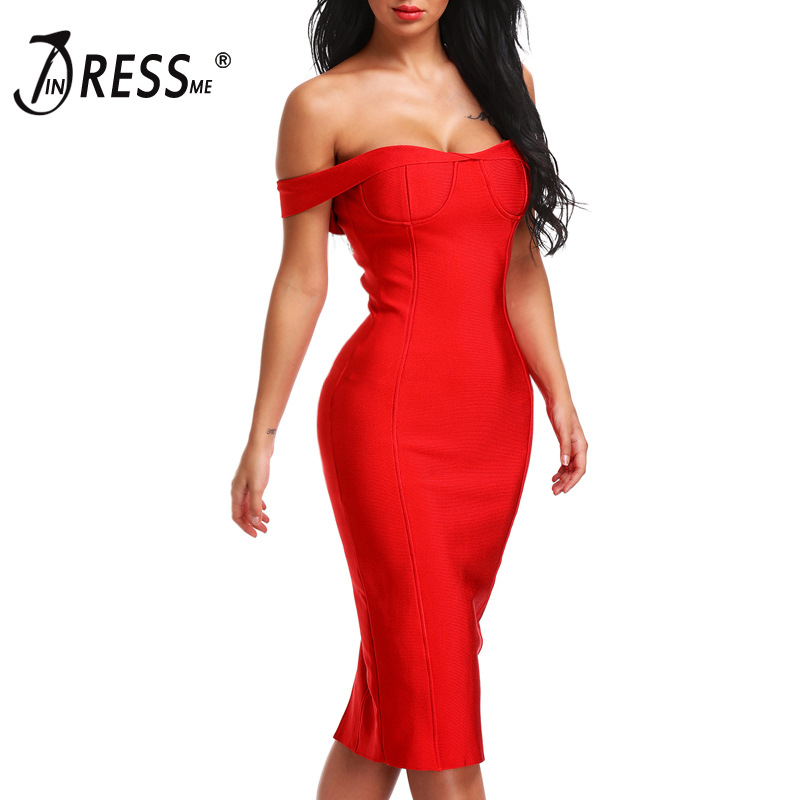 INDRESSME <font><b>2019</b></font> Off the Shoulder Backless <font><b>Dress</b></font> <font><b>Black</b></font> Red <font><b>Sexy</b></font> Club Sheath <font><b>Bodycon</b></font> Party <font><b>Dresses</b></font> image