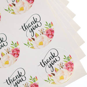 Sealing-Label Kraft-Paper-Sticker Baking-Products Heart-Shaped Thank-You Printing Handicraft