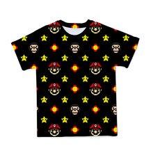 Детская летняя забавная футболка с 3D-принтом Супер Марио, с коротким рукавом и круглым вырезом, для мальчиков и девочек, 2021