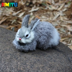Image 3 - 15CM Mini Cute Rabbits/Chicks Plush Toys Fur Lifelike Animal Easter Bunny Simulation Rabbit Toy Model Birthday Gift