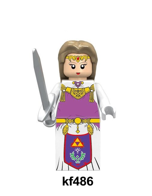 Single Sale Building Blocks Plastic Princess and Knight Link Figures Model Collection For Children Gift Toys KF486 KF2025 <font><b>KF2027</b></font> image