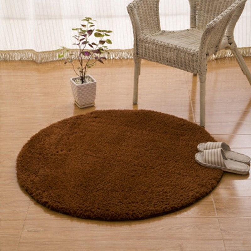 Cercle tapis polaire berbère panier suspendu chaise pivotante tapis chambre toilette absorbant l'eau-tapis antidérapant
