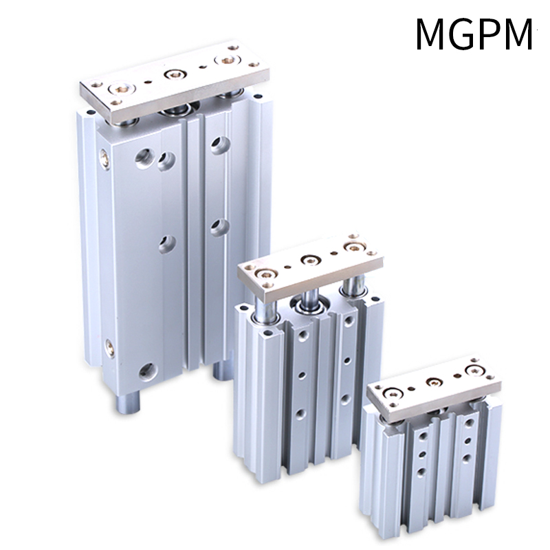 MGPM SMC size Compact Guide Cylinder BORE 12 16 <font><b>20</b></font> 25 32 40 50 63 Stroke 10 <font><b>20</b></font> 25 30 40 50 75 <font><b>100</b></font> 125 150 200 250 300 image