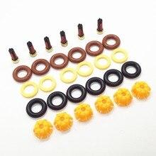 Juego de 6 Kit de reparación de inyector de combustible de repuesto para coche BMW, set de AY RK004 de repuesto para vehículo BMW E60, E39, 520i, 523i, 525i, 528i, E36, 328i, E36,