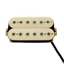 Donlis frete grátis cerâmica magent guitarra humbucker captador hex pólo peça captadores de guitarra humbucker captadores de guitarra elétrica