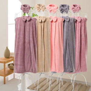Set de toallas de baño de microfibra suave mágico para mujer, gorro de secado para cabello bonito, lazo fuerte absorbente, juego de toallas de baño