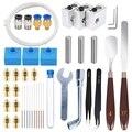 42 шт. набор аксессуаров для 3d принтера  10 соплов + 3 нагревателя + 3 горла трубки + 3 MK8 силиконовые носки + 10 чистящих игл + Othe