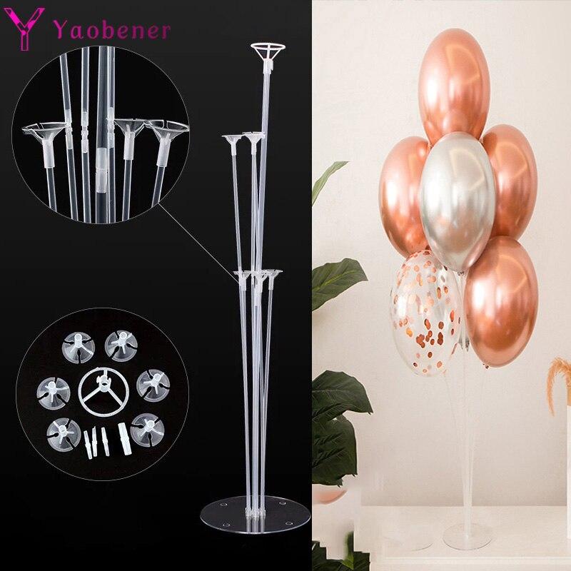 Первый день рождения украшения 7 трубок воздушный шар