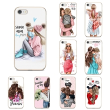 For Nokia 7 Plus 2 3 5 8 9 2.1 3.1 5.1 6 2017 2018 230 3310 For Oneplus 3T 5T Brown Hair Baby Mom Girl Queen Silicone Shell Case