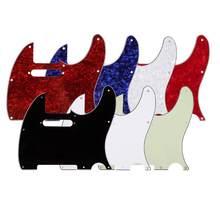 3ply envelhecido perolóide pickguard tele estilo guitarra pickguard envelhecido branco pérola instrumento musical peças de guitarra acessórios 7 cores