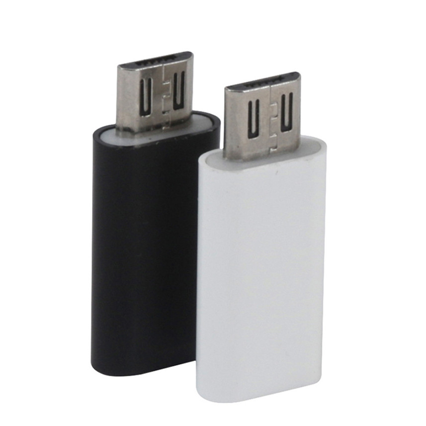 2019 Digital Type-C Female To Micro USB Male Data Adapter Converter USB Type C Adapter For Android Mobile Phone Black White