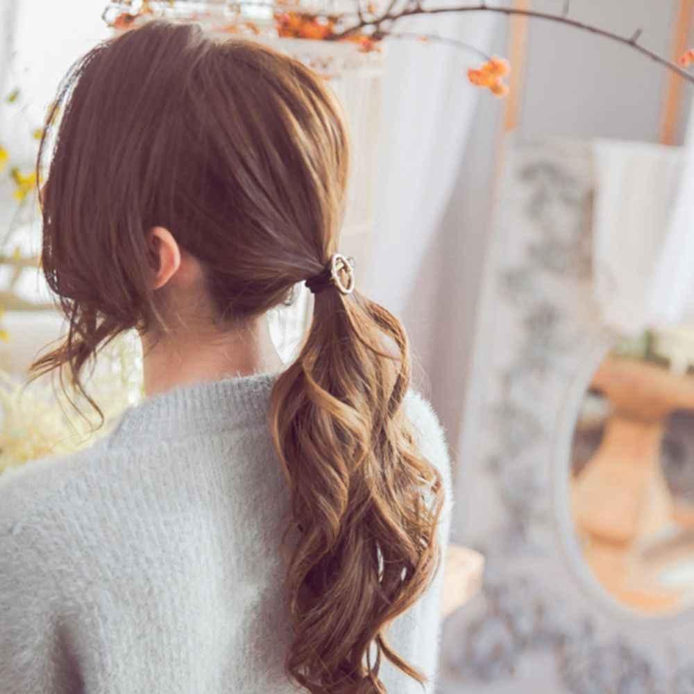 Wanita Rambut Aksesoris Hiasan Kepala Bulat dengan Crystal Karet untuk Rambut Gadis Ornamen Karet Bando Elastis Rambut Band