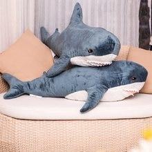 60-140 см гигантская Акула плюшевая игрушка мягкие игрушки животных чтение подушки для детей подарки на день рождения подушки плюшевая кукла ...