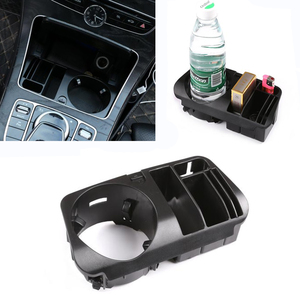 For Mercedes Benz C E GLC Class W205 X253 W213 S213 C238 Car Plastic Central Console Storage Box Cup Holder Car Accessories