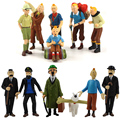 5-8 см 6 шт./лот Приключения Тинтин ПВХ экшн-фигурки коллекционные модели игрушек снег жестяные фигурки Куклы