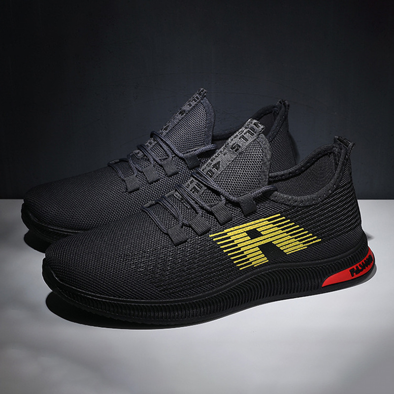 New Style Fashion Travel Athletic Shoes Men's Casual Breathable Trend Running Shoes Men's Mesh Men Casual Shoe