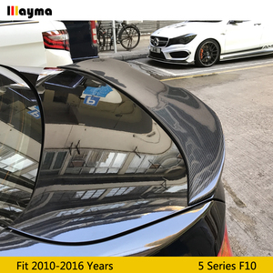 PSM style Carbon Fiber rear trunk spoiler For BMW 5 Series 520i 528i 535i 540i 2010-2016 year F10 M5 P styling Car spoiler Wing(China)