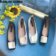 цена на Women Flats Casual Shoes Square Toe Flat Ballet Women Slip On Loafers Soft Moccasins Female Shoe Fashion Chaussure zapatos mujer
