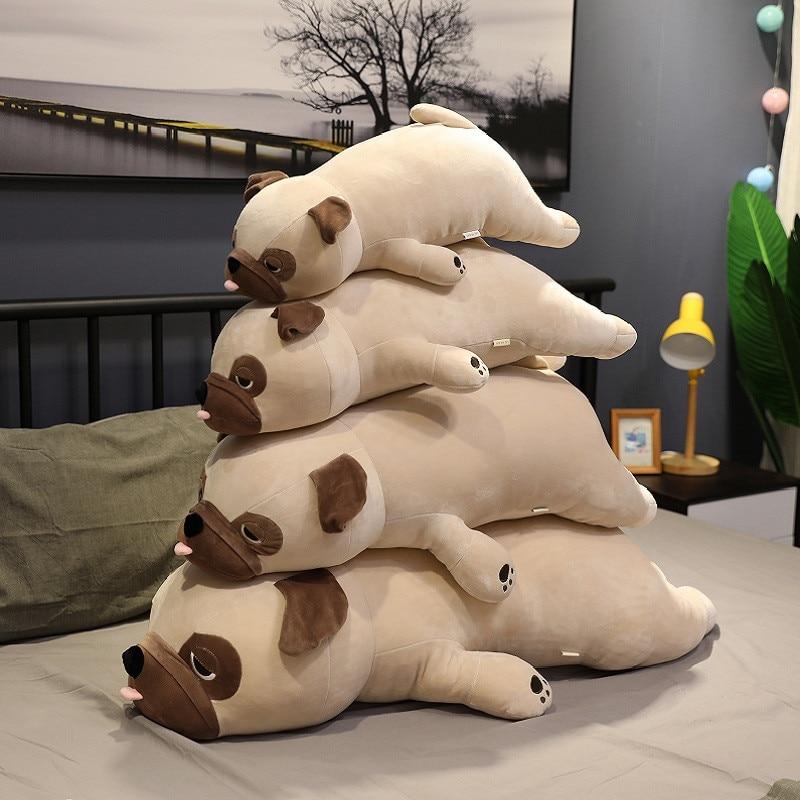 Hot 55cm-90cm Big Size New Cute Animal Kawaii Pug Dog Plush Toys Sleep Pillow Kids Birthday Gift Child Girl Xmas Valentine's